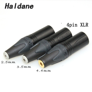 Image 1 - Darmowa wysyłka Haldane 3.5mm/2.5mmm/4.4mm zrównoważony żeński na 4pin zrównoważony XLR męski konwerter Adapter
