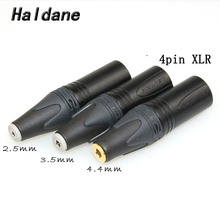 Free Shipping Haldane 3.5mm/2.5mmm/4.4mm Balanced Female to 4pin Balanced XLR Male Converter Adapter