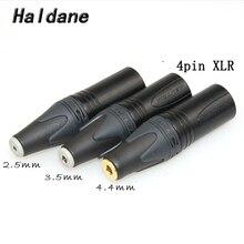 Ücretsiz kargo Haldane 3.5mm/2.5mmm/4.4mm dengeli dişi 4pin dengeli XLR erkek dönüştürücü adaptör