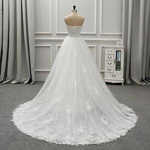 Image 3 - Fansmile robe De mariée en dentelle Vintage 2 en 1, robe De mariée luxueuse, tenue De bal, nouvelle collection 2020