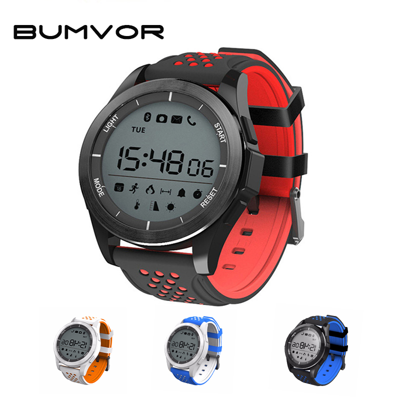 BUMVOR 2018 NEW Luminous Smart Watch Bracelet IP68 waterproof Smartwatch Outdoor Mode Fitness Tracker Reminder Wearable Devices