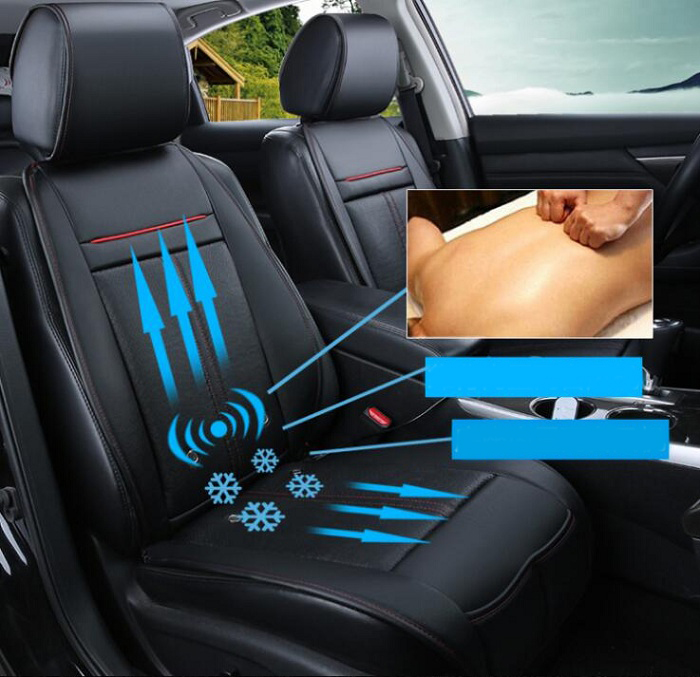 12V 3in One Cool Fan+massage+heating Car Seat Covers Universal Fit SUV sedans Chair Pad Cushion with Motor driving Wh