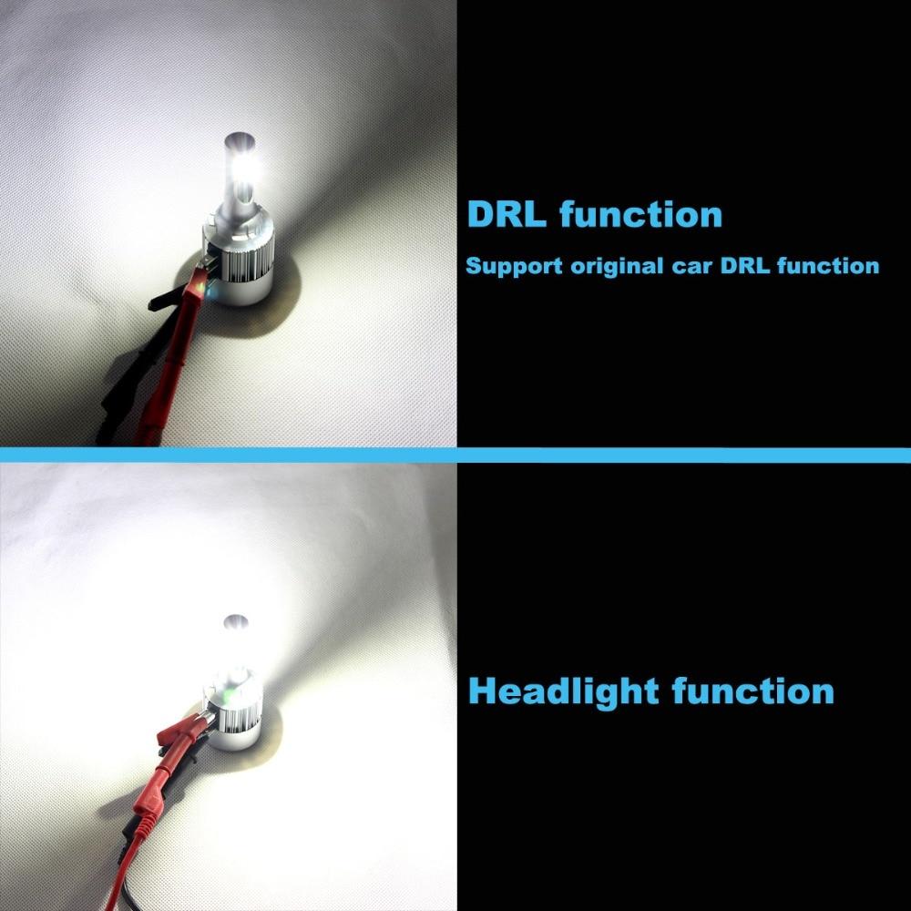 H15 LED 車ヘッドライトオートヘッドランプ 80 ワット 12000LM ハイビーム DRL フォードエクスプローラー 2016  グループ上の 自動車 &バイク からの 車のヘッドライトの球 (LED) の中 2