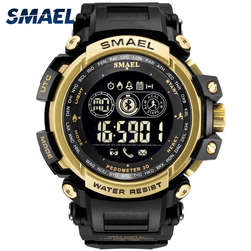 Hommes Numérique Montres LED Affichage SMAEL Montre Hommes Numérique horloge Hommes Sport Montres Blutooth Smart 8018 Wtaerproof Hommes Montres
