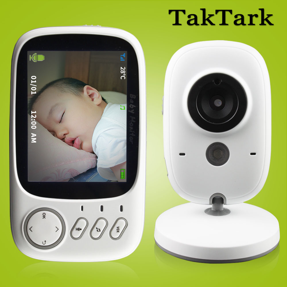 3.2 inch Wireless Video Color Baby Monitor High Resolution Baby Nanny Security Camera Night Vision Temperature Monitoring(China)