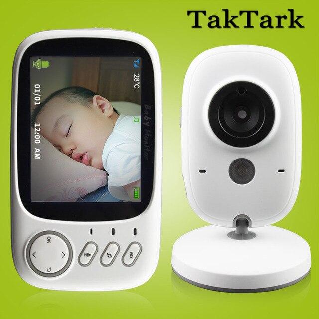 كاميرا مراقبة الأطفال عالية الدقة, مقاس 3.2 بوصة لاسلكية ذات رؤية ليلية ومراقبة درجة الحرارة