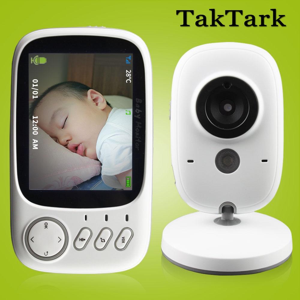 Monitor inalámbrico de 3,2 pulgadas de vídeo de Color para bebés de alta resolución cámara de seguridad de la cámara de vigilancia de la temperatura de la visión nocturna