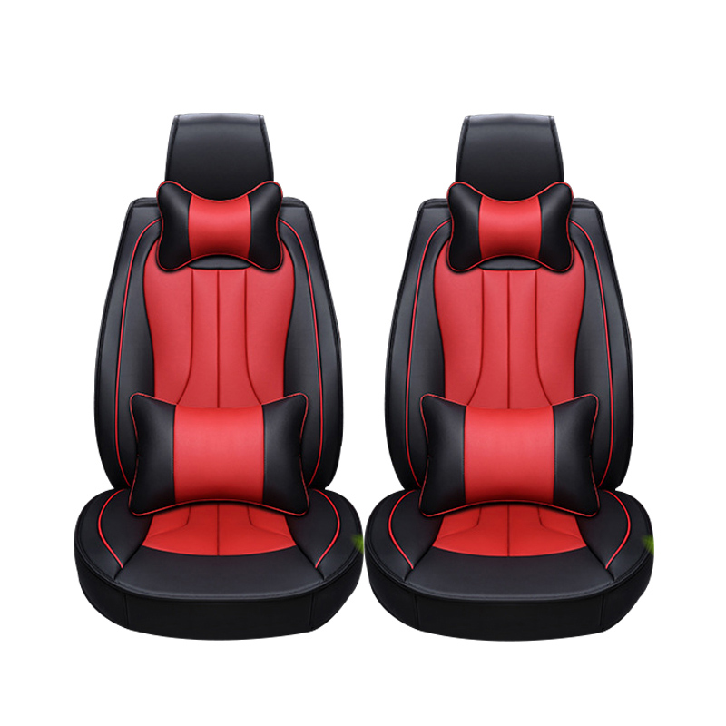 2 pcs Leather car seat covers For Nissan Qashqai Note Murano March Teana Tiida Almera X-trai juke car accessories styling universal pu leather car seat covers for toyota corolla camry rav4 auris prius yalis avensis suv auto accessories car sticks