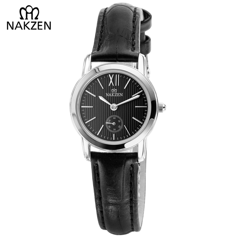 NAKZEN Ladies Watch Leather Strap Women Quartz Watches Ladies Top Brand Luxury Female Wrist Watch Girl Clock Relogio Feminino relogio feminino sinobi watches women fashion leather strap japan quartz wrist watch for women ladies luxury brand wristwatch