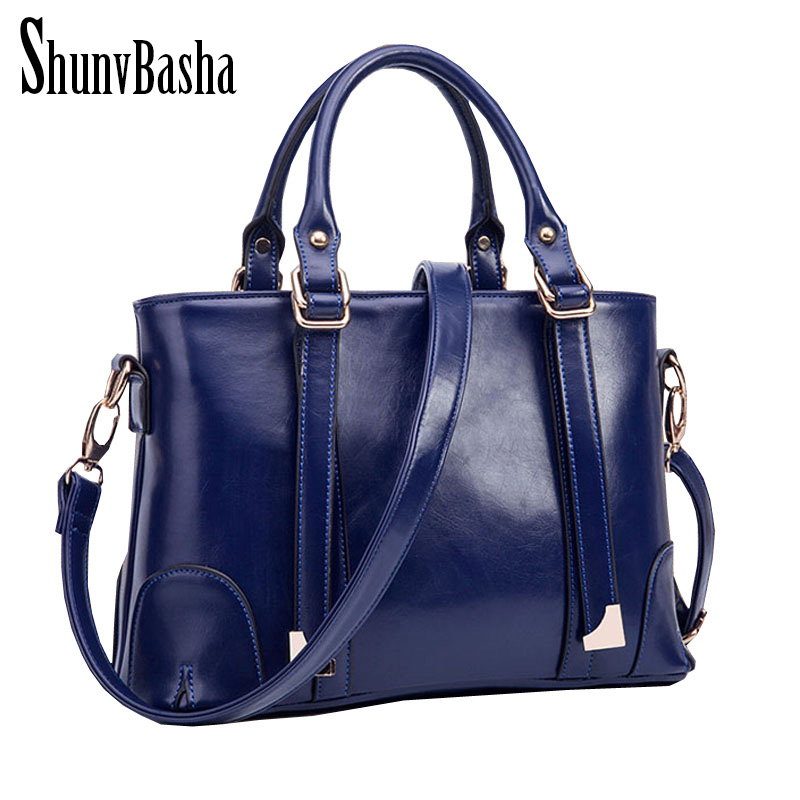 Women messenger bags 2016 Handbag High Quality PU Leather British style  Women shoulder bag Crossbody Vintage Women bag tote