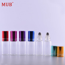 MUB - 5 ml (100 pieces/lot) Steel Roller Ball Bottles Wholesale Empty Refillable Perfume Bottles For Essential Oils