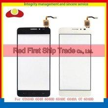 """5.0 """"для Alcatel One Touch Idol X OT6040 6040 6040D 6040E 6040A Сенсорный экран планшета Внешний стекло объектива Панель черный, белый цвет трек"""