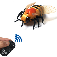 Radio Remote Control Realistic Fake Bee RC Insect Bug RC Prank Toys Insects Joke Scary Trick