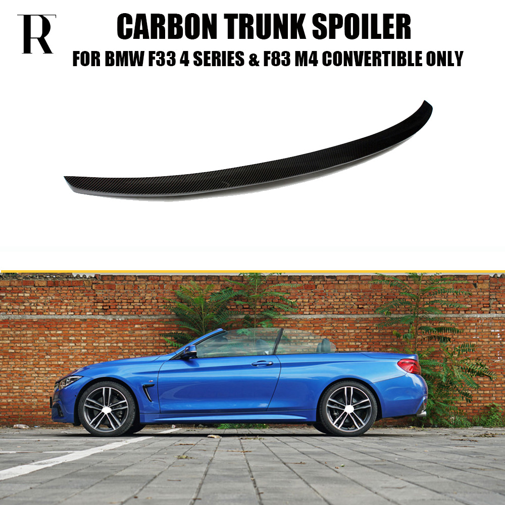 F33 M Performance Style Carbon Fiber Rear Wing Spoiler For
