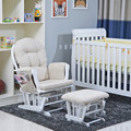 EUA Popular de Madeira Conjunto de Móveis de Sala de estar Moderna Cadeira De Balanço Planador e Otomano Amortecido Berçário Cadeira De Balanço Para O Bebê
