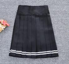 2018 korean style solid color high waist skirt plus size harajuku women mini skirts ladies sexy white summer