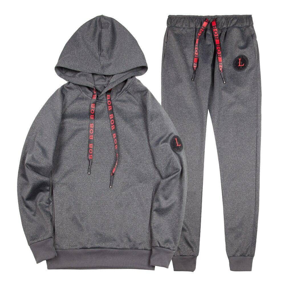 2019 Tracksuit Men Casual Sporting Causal Sweatsuits Streetwear Hoodies+Sweatpants Man's 2 Pieces Set Vetement Homme Euro Size
