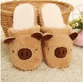 Free shipping Winter Pig Cotton Slippers Couple Of Men And Women At Home  Shoes Lovely Home Warm Shoes