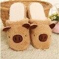 O envio gratuito de Porco Inverno Chinelos de Algodão Casal De Homens E Mulheres Em Casa Sapatos Linda Casa Sapatos Quentes
