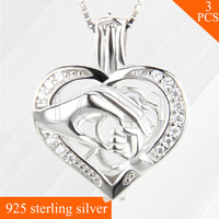 Best Mother S Day Gift 925 Sterling Silver Cage Little Hand Holding Big Hand Shaped Locket