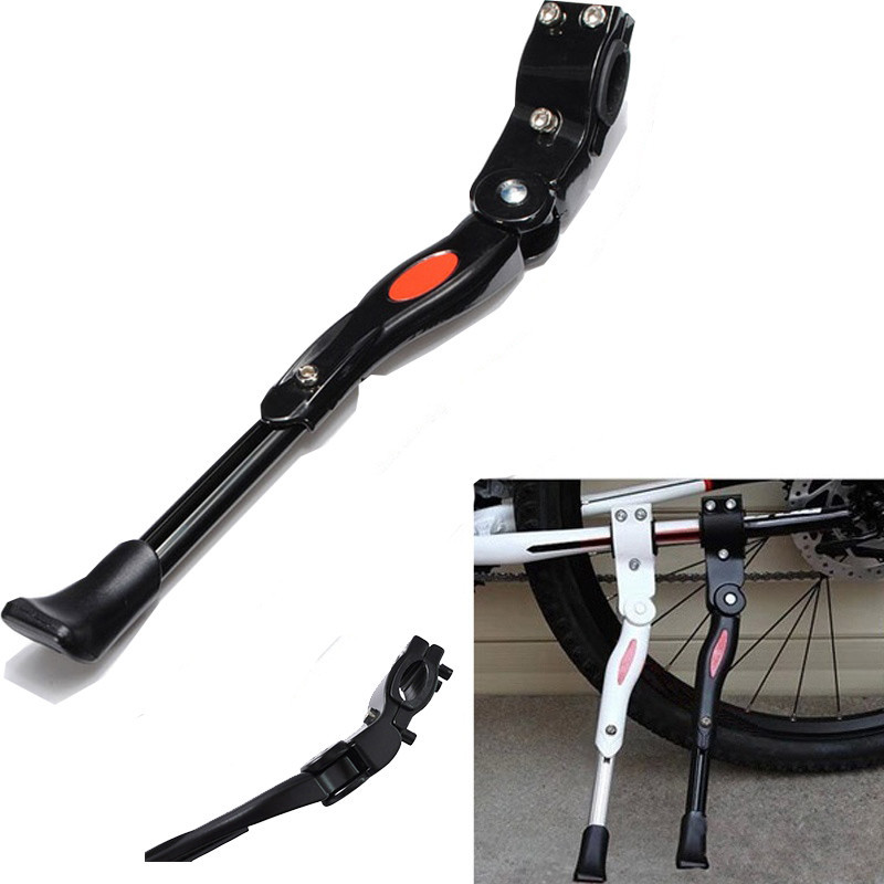 2017 Bike Foot Kick Stand MTB Aluminium Alloy Adjustable Bicycle Cycle Prop Side Rear Kick Stand Parking Rack Paking Legs Racks