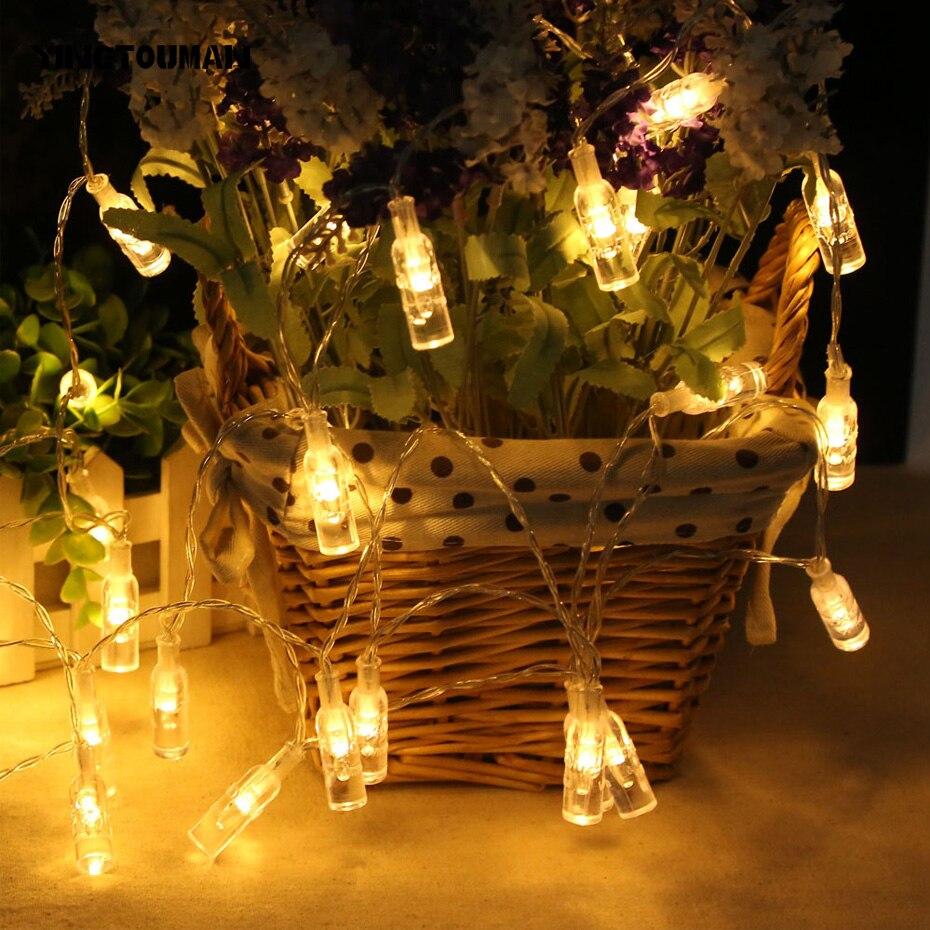 YINGTOUMAN Battery Power 20LED Bottle Strip Lamp Christmas Birthday Holiday Party Wedding Decoration lighting Night Light 2.2M