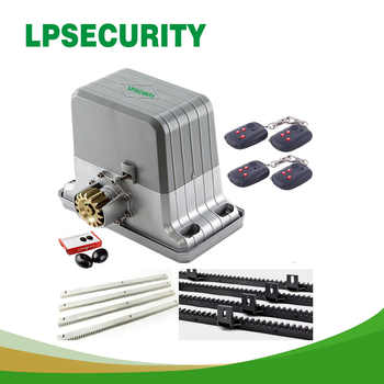 LPSECURITYElectrical Sliding Gate Opener Motor Engine 1800kg 3200lbs 4m,5m,6m racks 1 photocell 1 lamp 1 BUTTON