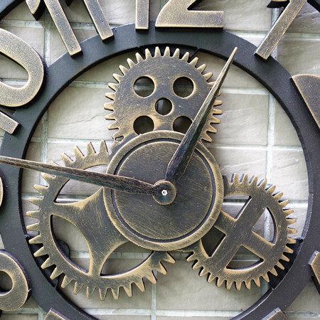Bon 3d Vintage Wood Gear Wall Clock Wandklok Retro Wall Clocks Kitchen Pared  Relojes Decoracion Wanduhr Watches Home Decor Round