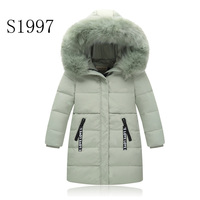 Hot Sale Solid Thickening Girl Winter Coat White Duck Down 5 14T Winter CoatWarm Down Parkas