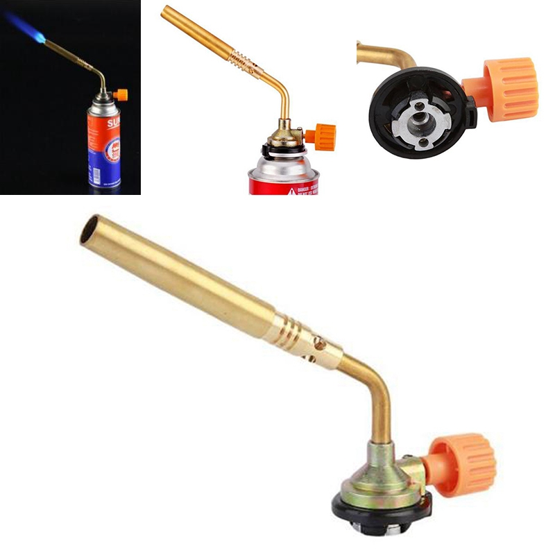Camping & Hiking High Quality Butane Burner Welding Outdoor Camping Picnic Bbq Manual Brazing Gas Torch Lighter Flame Gun For Kitchen To Rank First Among Similar Products