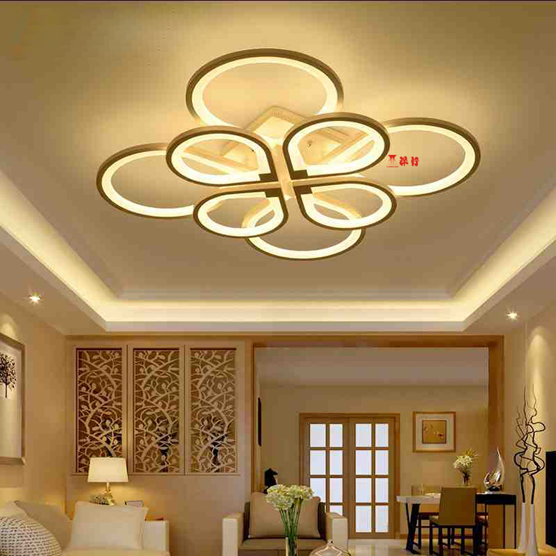 Remote control living room bedroom modern led ceiling lights luminarias para sala dimming led ceiling lamp deckenleuchten rectangle new white acrylic modern led living room bedroom kitchen home deco ceiling lights luminarias para sala ceiling lamp