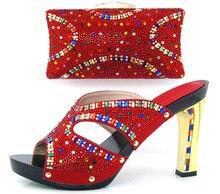Freies Verschiffen, Fashion frau Italienische passenden schuhe und taschen, party schuh und tasche set mit perlen design für party-kleid! HLL1-9