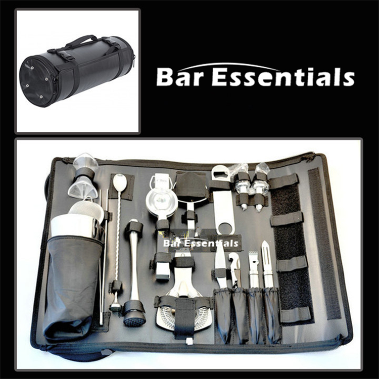Bartender Kit Bag Wine Tool Set Combination Diagonal Toolkit Appliance Package Professional Bartender Kit