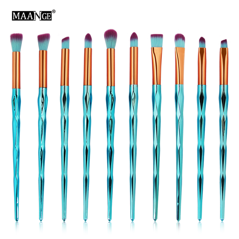 10/1Pcs Diamond Makeup Brushes Set Foundation Powder Rainbow Eye shadow Contour Concealer Blush Cosmetic Beauty Make Up Tools