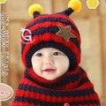 Venda quente de Inverno Chapéu e Lenço Bonito do Urso Do Bebê de Crochê Malha Caps para Meninos Infantis Meninas Miúdos Das Crianças Neck Warmer