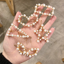 New Imitiation Pearl Hair Clips Geometric Crown Five-pointed Star Barrettes Hairclips for Women Girls Hairpins Accessories