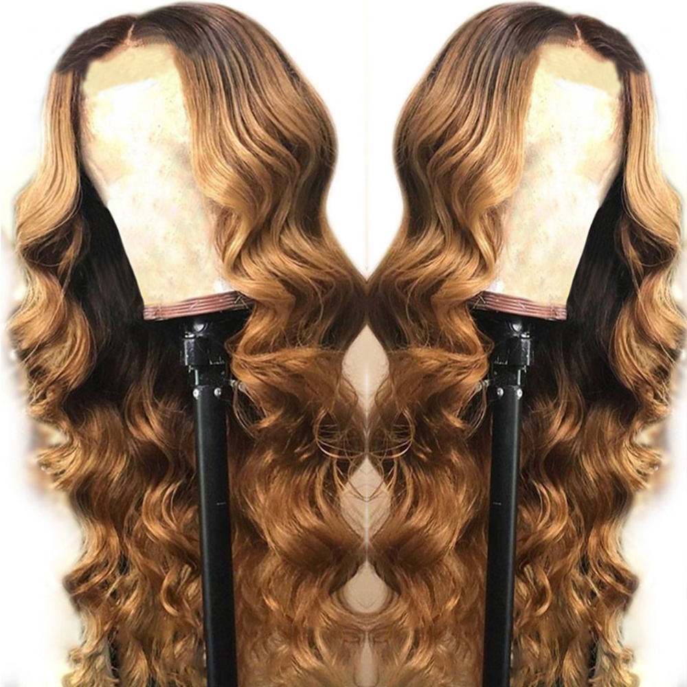 Eversilky 1b 27 Ombre Blonde 13x6\13x3 Lace Front Human Hair Wigs For Women 360 Lace Frontal Wigs Brazilian Body Wave Remy Hair