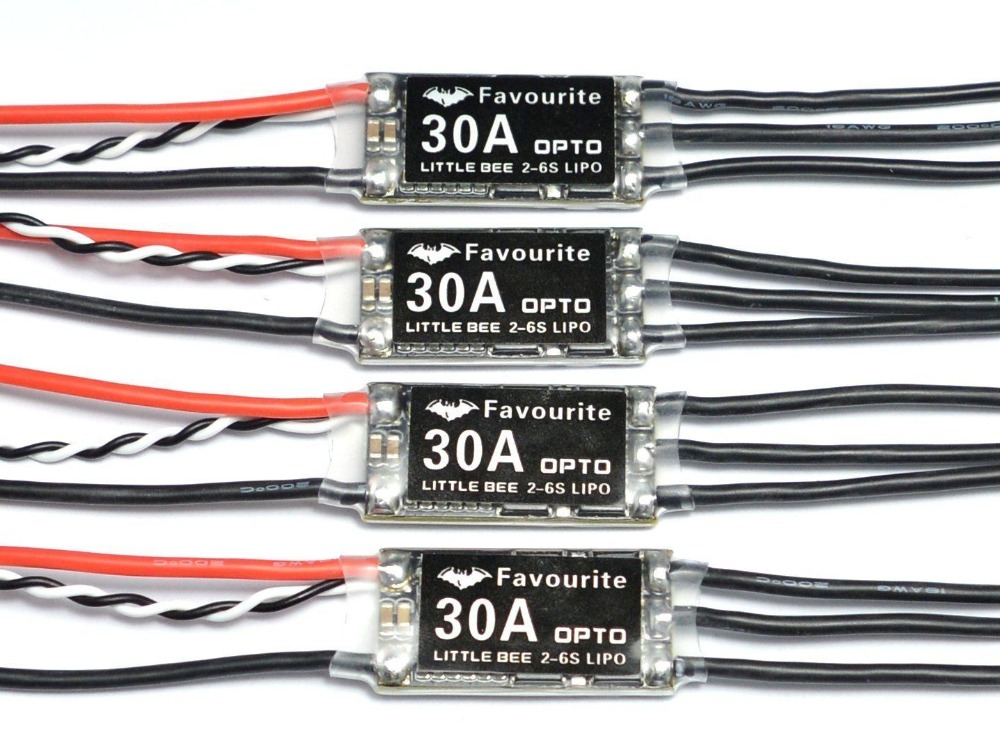 4x Littlebee 30a Esc Blheli Opto 2-6s Supports Oneshot125 For Rc Multirotors Fvt lhi fpv 4x mt2206 2300kv cw ccw fpv brushless motor 2 4s 4x littlebee 30a esc blheli opto 2 6s supports oneshot125 for rc