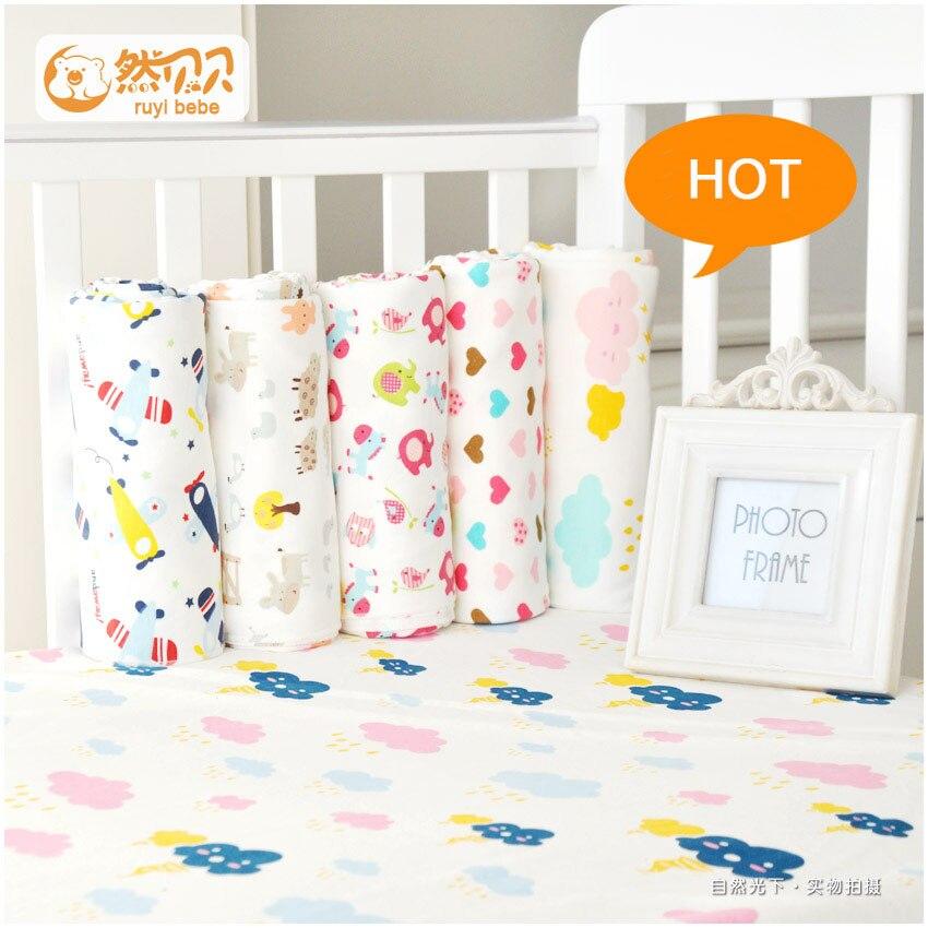 1 Stücke 75x75 Cm Baby Decken Neugeborenen Baby Bettwäsche 100% Baumwolle Super Soft Krippe Blatt Baby Bettwäsche Set Infant Bett Blätter