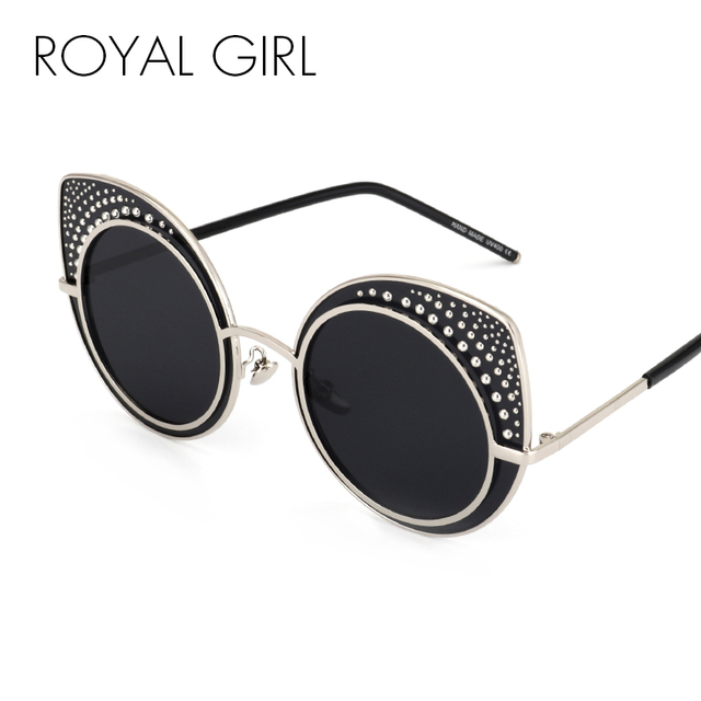 Royal Girl Fashion Cat Eye Sunglasses Women Brand Designer Retro Steampunk  Female Sun Glasses oculos de sol feminino UV400 ss142 076745c5b5