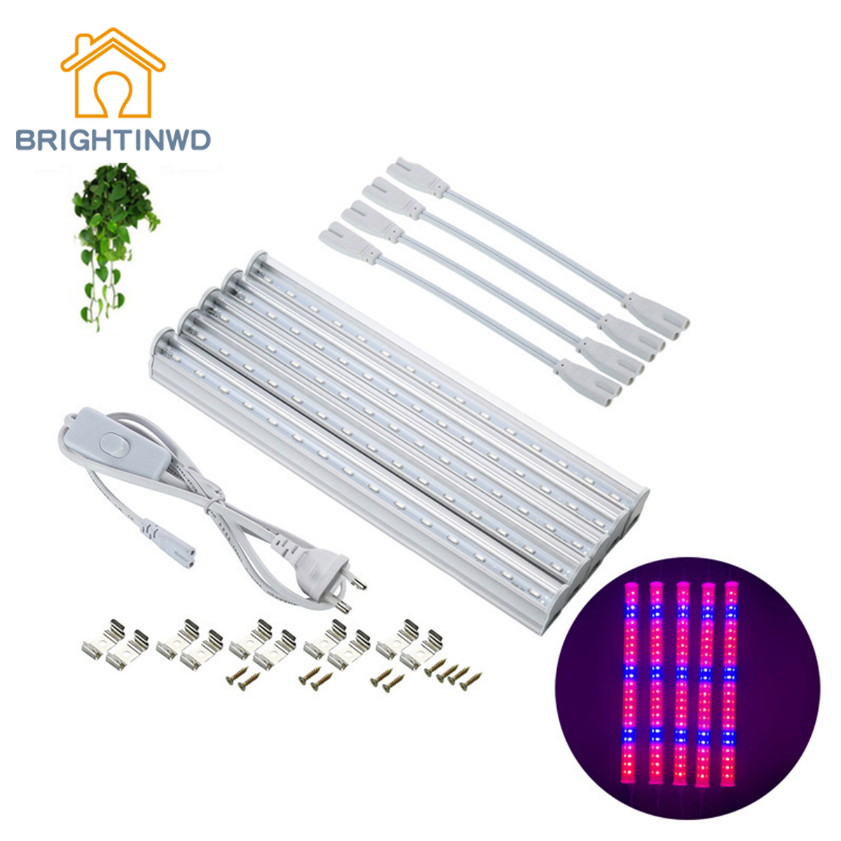 BRIGHTINWD T5 Lamp LED Plant Lamp Red And Blue With Separate Disassembly Full Spectrum Plant Growth Lamp USB