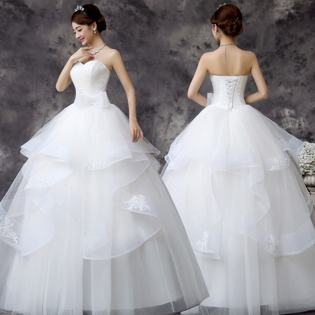 Online Shop Customized Wedding Dress 2016 New Korean Style