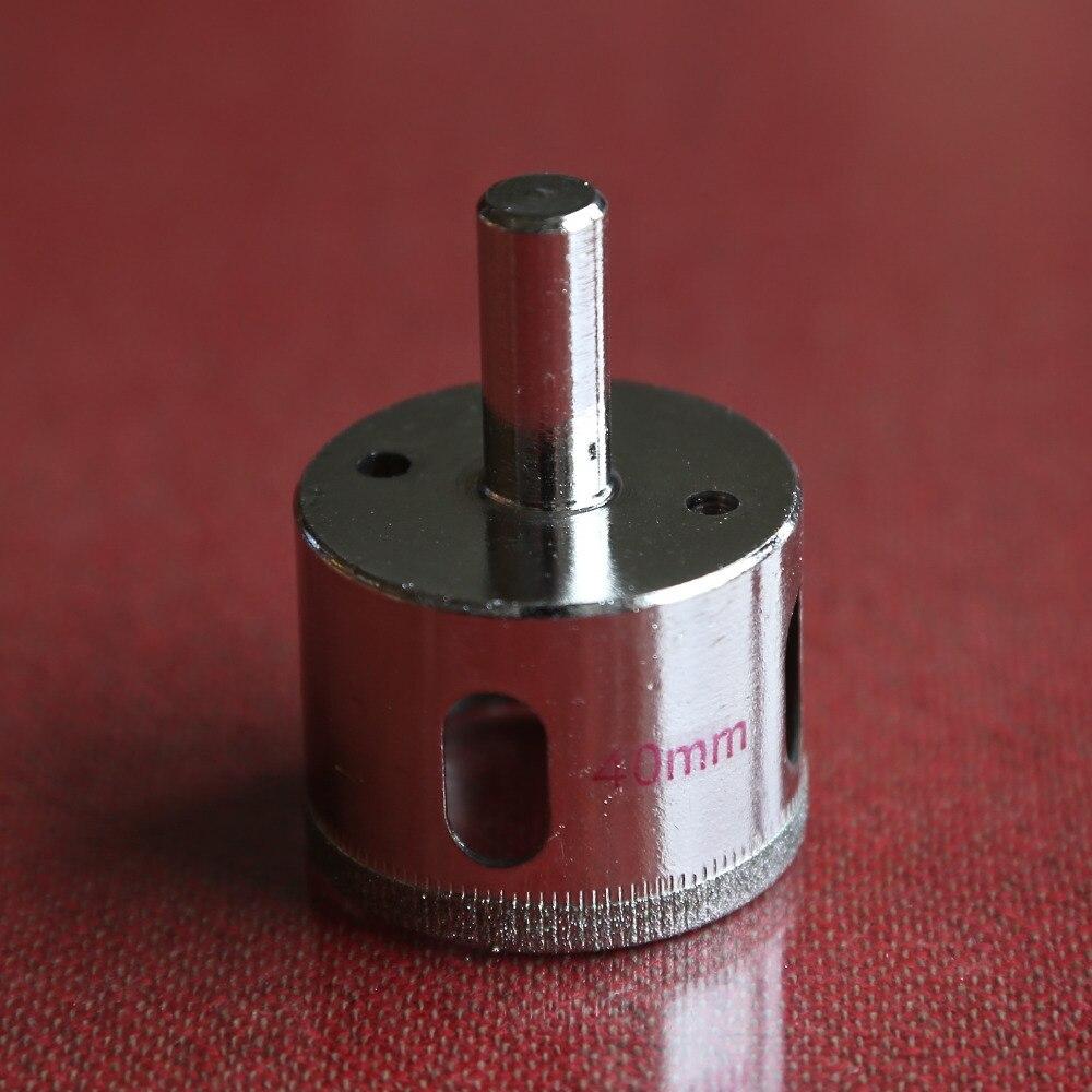 цена на Free shipping of 1PC 40mm glass hole saw tile drill bit diamond drill core bit for drilling glass/tile/ceramics free shipping