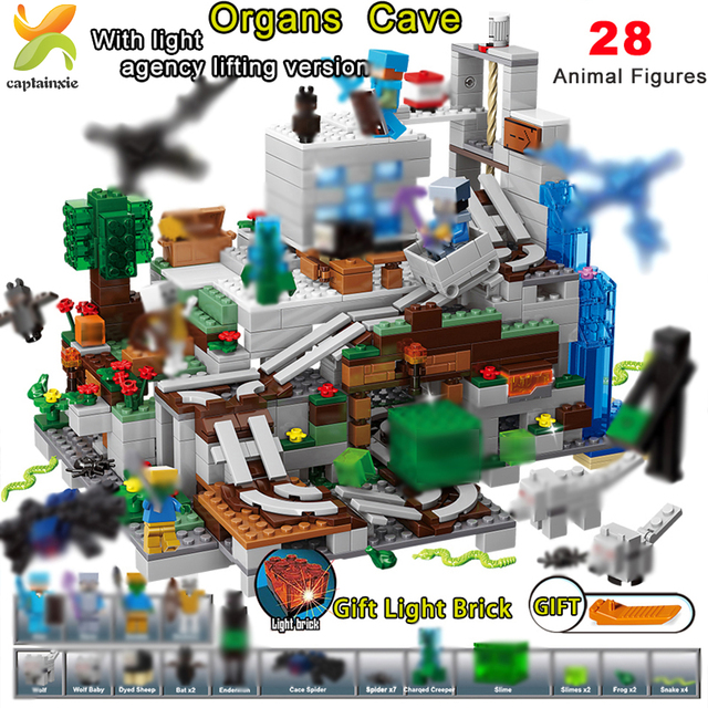 Minecrafted Tree House Building Blocks Minecrafted City Mini Steve Figures Dragon Assembled Educational Bricks Toys For Children