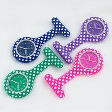 Силиконовые часы для медсестры в белый горошек карманные fob