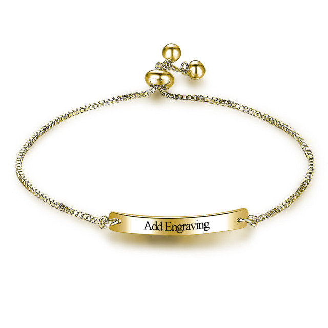Personalized Adjule Engrave Name Gold Color Bracelets Bangle Custom Charms Jewelry For Women Ba101848