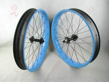 IPLAY 26 fat tire bicycle wheels 100mm width UD carbon fat bike wheel 26er carbon fat