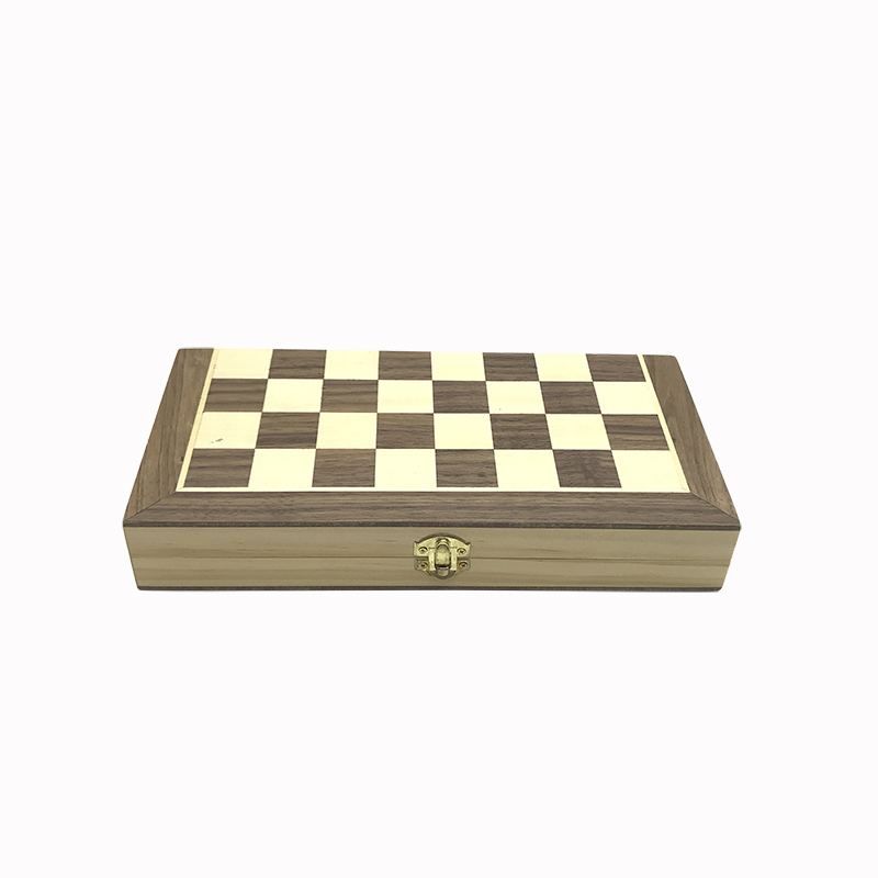 Yernea New Magnetic Chess Games Wooden Chessboard Outdoor Chess Set Games Solid Wood Chess Pieces Magnetic Folding Chessboard 5