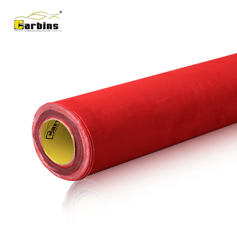 Carbins Film Self Adhesive Alcantar a Fabric Suede For Car Roof Interior