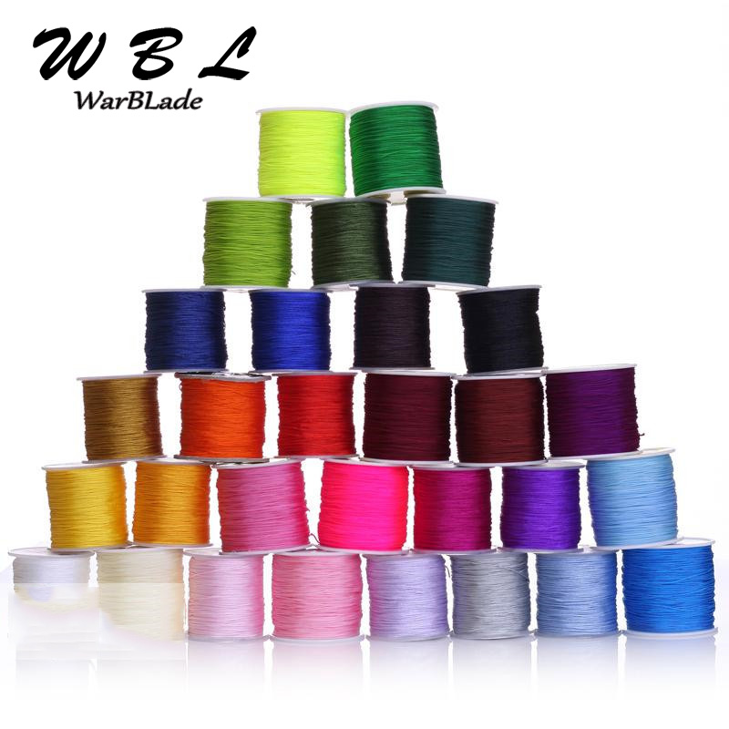 Light ROYAL BLUE Silk Chinese Knot Shamballa Macrame Knotting Beading Dainty String Thread 0.8mm SPOOL 100m 0.5mm Braided Metallic Cord
